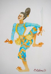 Burmese Dancer 1  7x9